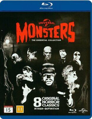 Universal Classic Monsters The Essential Collection BLU-RAY  Set BRAND NEW