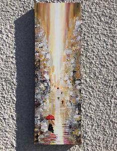 new YORK Rain Acrylic painting Abstract Painting Canvas Art