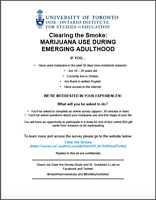UofT Survey - Clearing the Smoke: MJ use in Emerging Adulthood