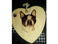 handmade tree wood pet plaques