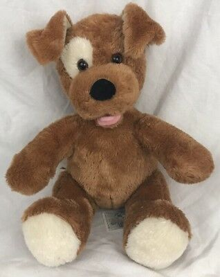 Build A Bear Brown Puppy Dog Plush Stuffed Animal Pointy Ears Tongue Out 11""