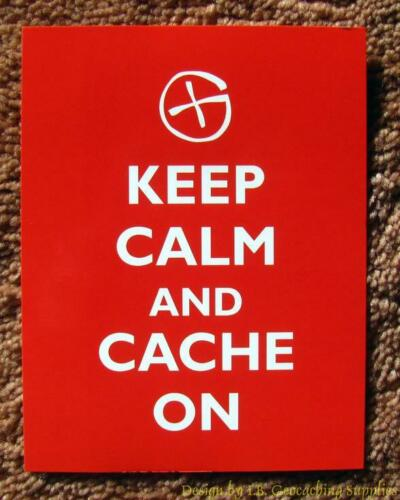 5 Geocaching Post Cards - Keep Calm & Cache On (Geo G)