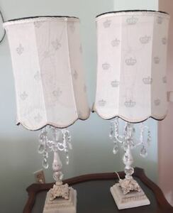 2 Chandelier Lamps,  French Farmhouse decor