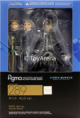 Figma #289 Kirito ALO ver Sword Art Online USA SELLER AUTHENTIC GSC MAX Factory