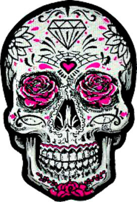 20 water slide nail  DiY sugar skull Pink  roses  decals  manicure trending (Diy Sugar Skull)