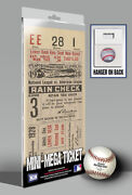 1928 World Series Ticket
