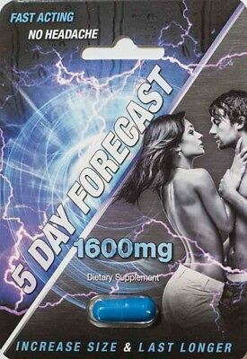 5 Day Forecast 1600Mg Male Sexual Enhancement Supplement Authentic Pill   X6