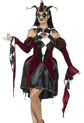 Gothic Venetian Harlequin Female Costume Size Large
