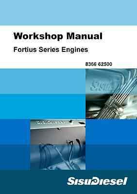 Sisu Diesel Fortius 33 44 66 74 84 Engine Workshop Manual (B115)