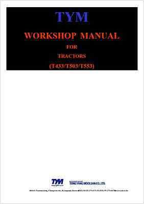 Tym T433 T503 T553 Tractor Workshop Manual (B142)