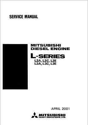 Mitsubishi L-Series L2A, L2C, L2E, L3A, L3C, L3E Engine Service Manual (B307)