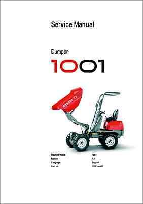Neuson Dumper 1001 Service Manual (B313)