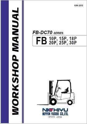 Nichiyu FB-DC70 Series Forklift Workshop Manual (B314)