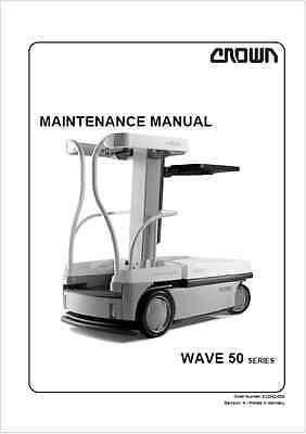Crown WAVE 50 Work Assist Vehicle Maintenance Manual (B188)