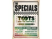 The Specials at Leeds Millennium Square Saturday 27th May - 2 Tickets £45 each FACE VALUE