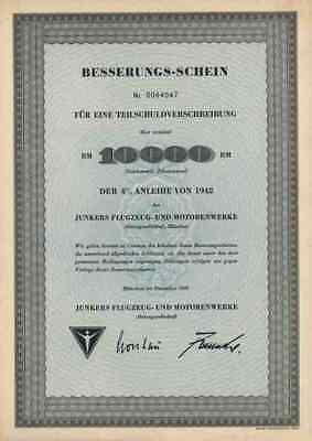 Junkers Flugzeug Motorenwerke AG 1960 Dessau Köthen Magdeburg Zittau 10.000 RM