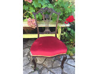 Beautiful vintage carved wooden chair