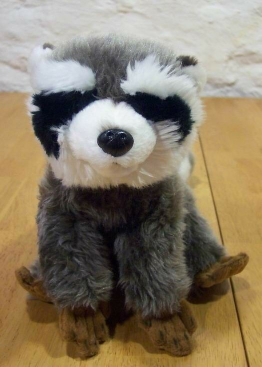 "Fiesta NICE CUTE RACCOON 9"" Plush Stuffed Animal"