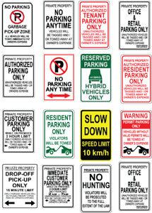PARKING AND PROPERTY SIGNS