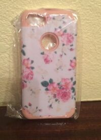 IPHONE 5/5S/SE 4.0 INCH SOFT SILICON BACK COVER, SHOCKPROOF,FLORAL (New) RRP £5.99
