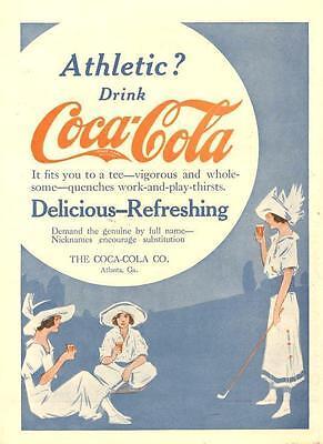 1914 Coca Cola Ad  -  Athletic?  Drink Coca Cola 1914