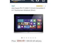 2in1 tablet/laptop intel i5 processor