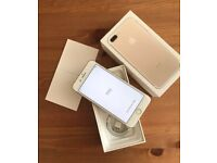 iPhone 7 Plus 32GD Gold On 02 , Gifgaff and Lyca Mobile Network