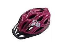 BRAND NEW Tesco Fusion bike/cycle helmet Pink, White & Black 48-54cm adult