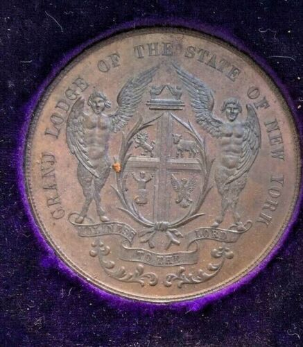 Grand Lodge of NY Coin 1889 (A021) REDUCED!!