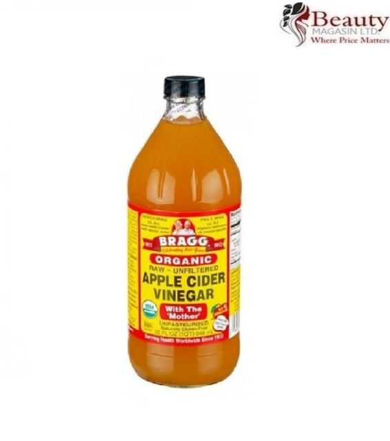 BRAGG Organic Apple Cider Vinegar w/h The Mother Raw Unfiltered 946ml (32 fl oz)