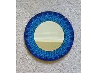 Decorative blue mosaic mirror