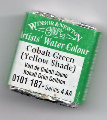 Winsor & Newton Half Pan Artist Watercolour, Cobalt Green (Yellow Shade) (RARE)  ()