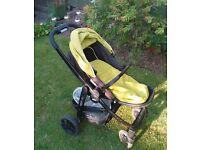 ✰ Graco Evo Lime Pushchairs Single Seat Stroller, Rain Cover ✰