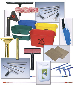 A lot of window cleaning gears for sale