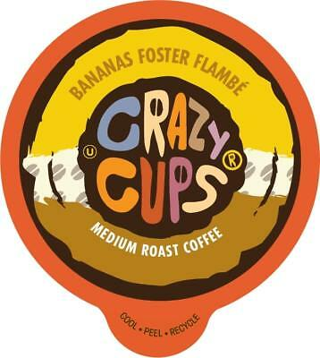 Crazy Cups Flavored Coffee for Keurig K Cups 2.0 Bananas Foster Flambe, 22 Count](Crazy Cups)