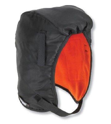 Ergodyne Hard Hat/Safety Helmet Fleece Liner with Helmet Clips Black /Orange