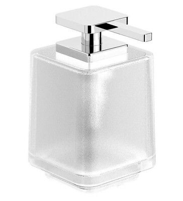 Milli GLANCE SOAP DISPENSER WITH PUMP 350ml Capacity, Frosted Glass, Chrome