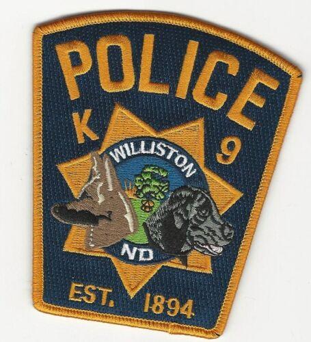 k9 k-9 Williston Police State North Dakota ND patch NEAT