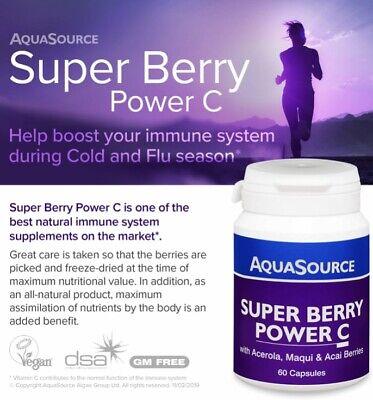 - AquaSource Super Berry Power Vitamin C with Acerola Maqui & Acai Berries 60 Caps