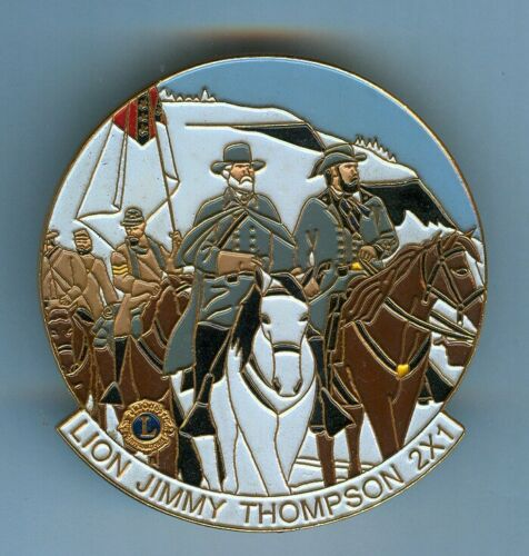 Lions Club Pins - Civil War Confederate Robert E. Lee on Horse