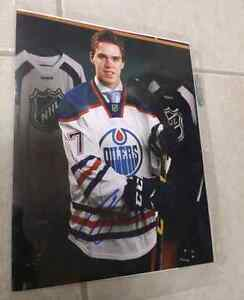 Conor McDavid signed Oilers 8x10