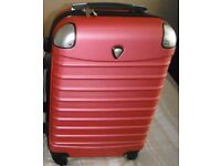 """Pink 4 wheeled small 20"""" suitcase with handle"""