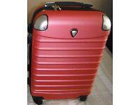 1 pink 4 wheel suitcase