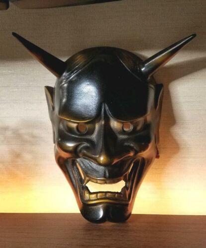 Japanese Handmade Noh mask Iron kyougen kagura Hannya demon bugaku Oni F/S