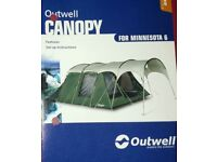 OUTWELL MINNESOTA 6 MAN TENT WITH CANOPY