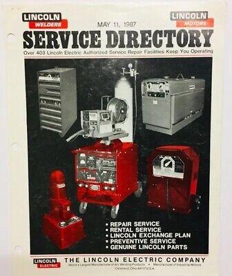 Vintage 1987 Lincoln Electric Company Welders Motors Service Directory Brochure