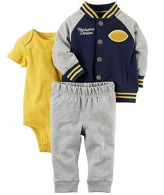 CARTERS Newborn 3 6 9 12 18 24 Month Clothes Outfit Set Baby Boy Varsity Jacket