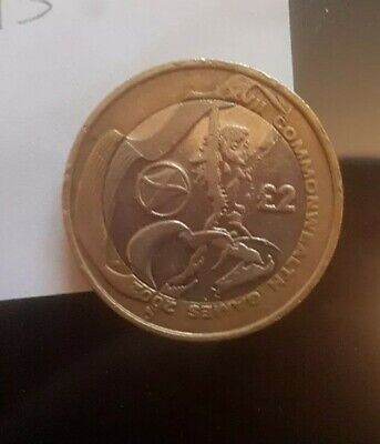 £2 - 2002 COMMONWEALTH GAMES - SCOTLAND FLAG - TWO POUND COIN - RARE- CIRCULATED