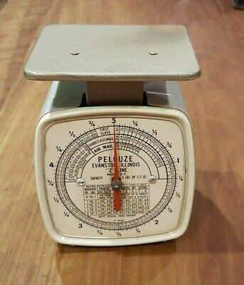 Vintage Pelouze Model Z5 Mechanical Postal Scale 5 Lbs X 12 Oz. Capacity