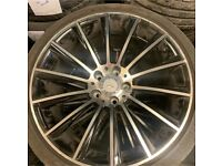 """Used Mercedes turbines 19"""" with tyres MINT CONDITION! 5x112. AMG"""